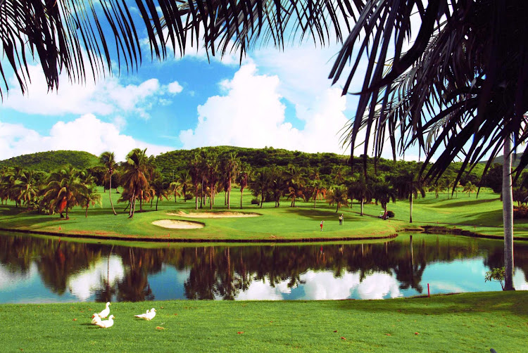 The Buccaneer, on St. Croix, is a par 70, 18-hole golf course with spectacular views of the Caribbean Sea from 13 holes.