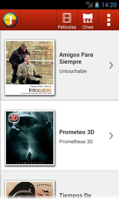 Cines Unidos- screenshot