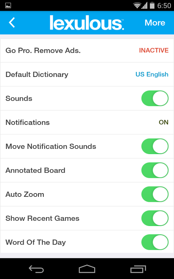Lexulous: The Fun Word Game - screenshot