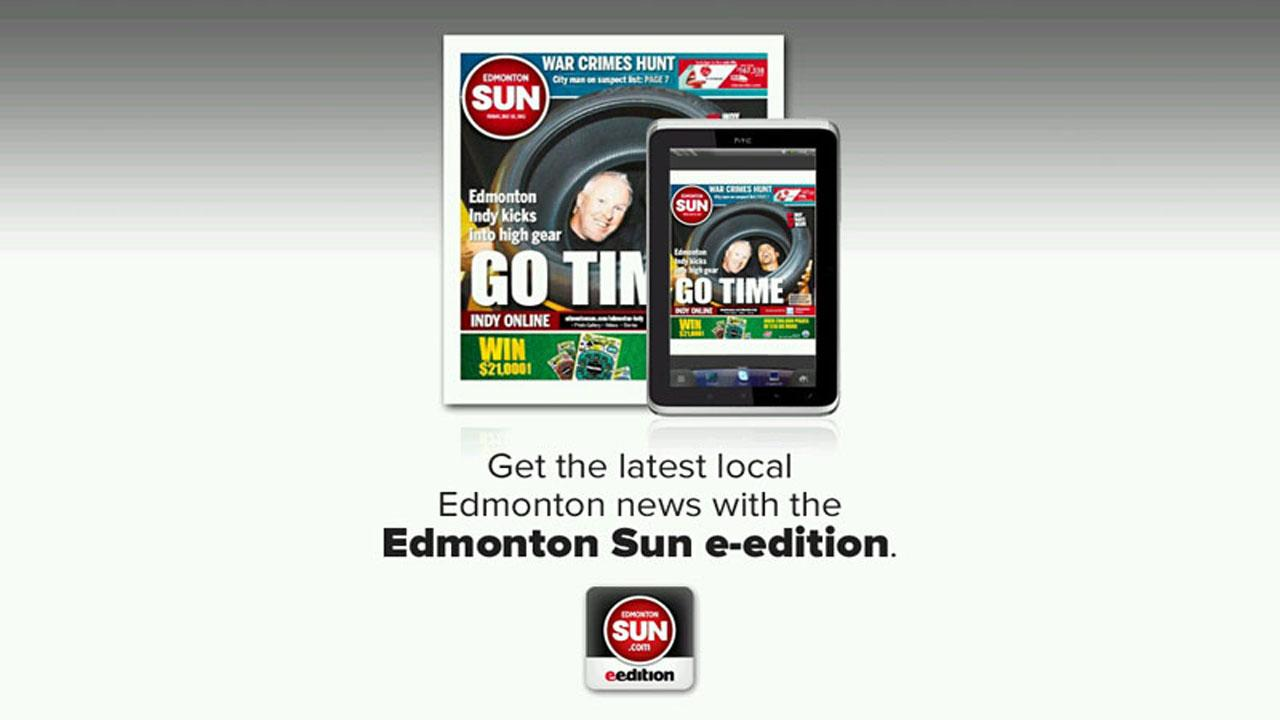 Edmonton Sun e-edition - screenshot