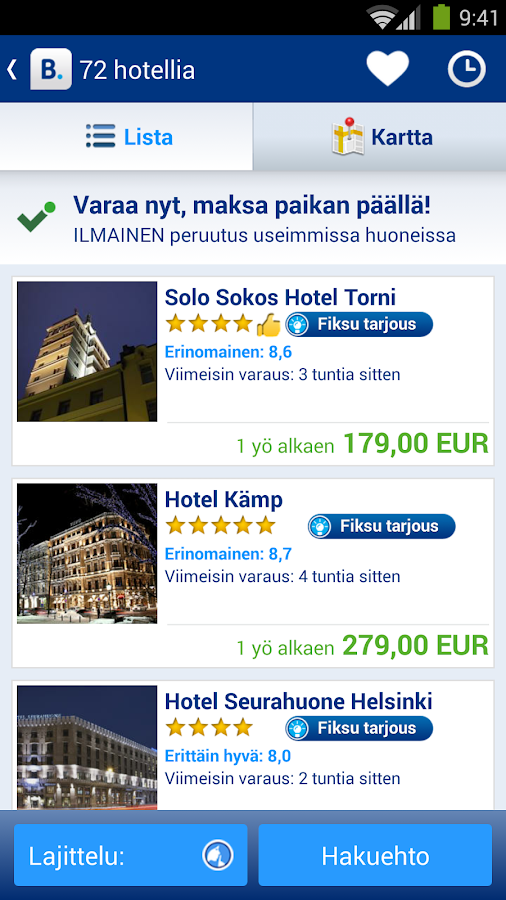 Booking.com – hotellit netissä - screenshot
