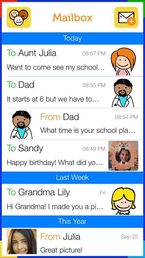 Tocomail - Email for Kids - screenshot