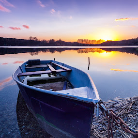 Boat by Markus Busch - Landscapes Sunsets & Sunrises ( sonnenuntergang, graufiter, 8, haida 1, pinnower see )