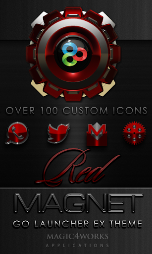GO Launcher Theme Red Magnet