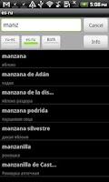Screenshot of Spanish-Russian Dictionary
