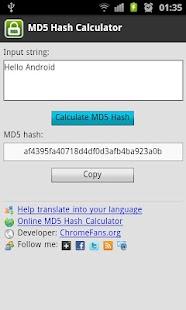 MD5 Hash Calculator- screenshot thumbnail