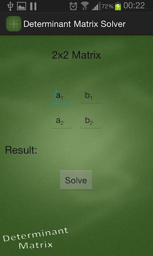 Determinant Matrix Solver
