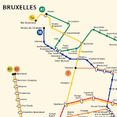 BRUSSELS METRO MAP Belgium HD