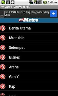 myMetro Malaysia RSS