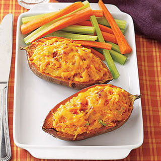 Stuffed Twice-Baked Sweet Potatoes.
