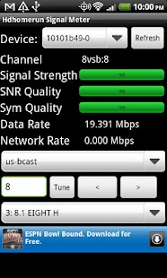Hdhomerun Signal Meter- screenshot thumbnail