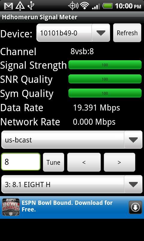 Hdhomerun Signal Meter- screenshot