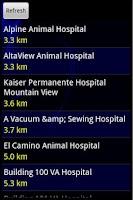 Screenshot of Nearest Hospital