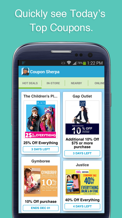 Coupon Sherpa- screenshot