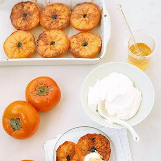 Broiled Persimmons with Mascarpone.