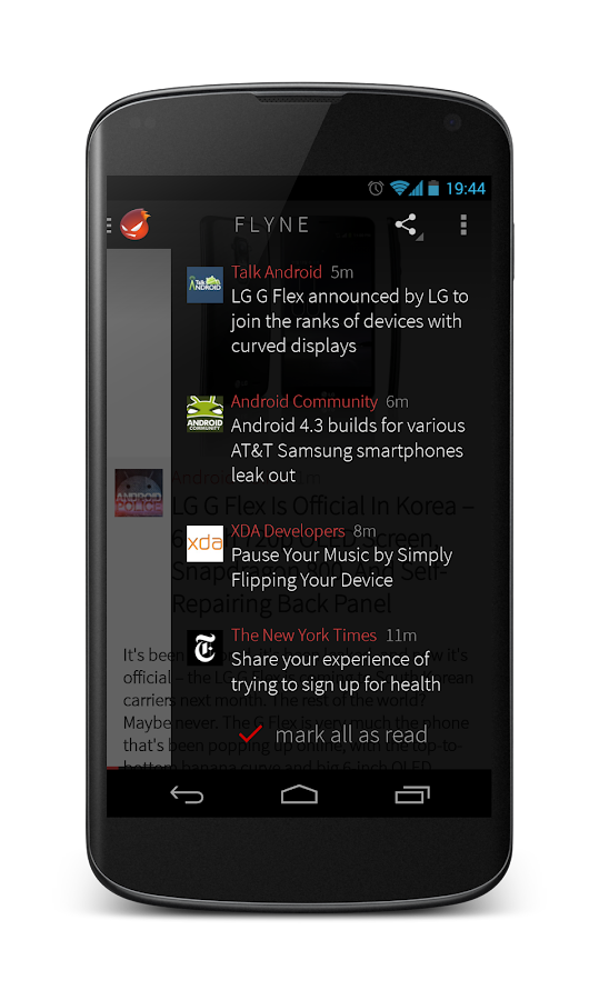 Flyne. The Offline Reader. - screenshot