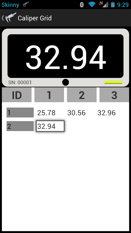 WEL Bluetooth Caliper- screenshot