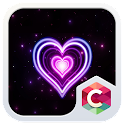 NEON HEART C LAUNCHER THEME icon