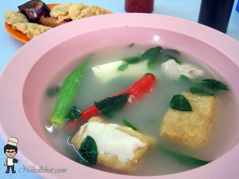 Yong Tau Fu Cook In Soup At Puchong Yong Tau Foo Malaysia Food