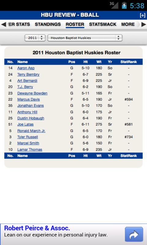 Houston Baptist Basketball - screenshot