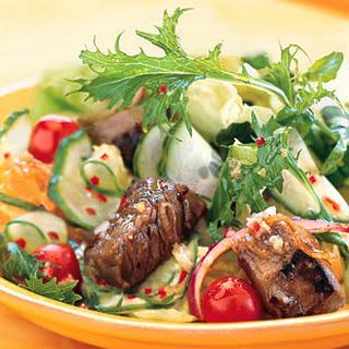 Summer Steak Salad with Ginger-Lime Dressing.