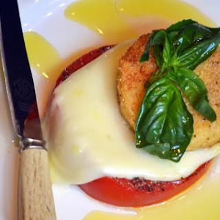 Crispy Fried Polenta Bruschetta