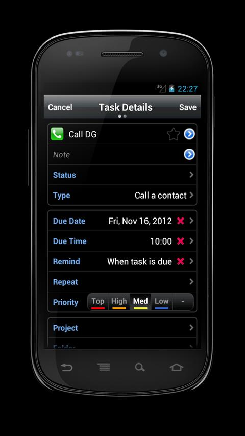DGT GTD & To-Do List [Alpha]- screenshot