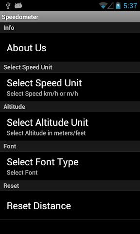 Screenshots for Speedometer