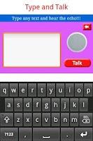 Screenshot of Type and Talk