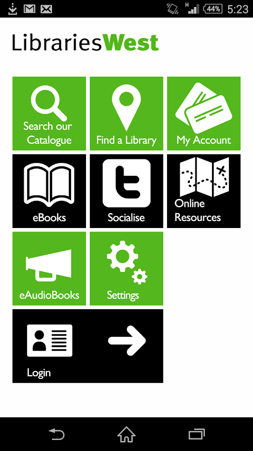LibrariesWest- screenshot