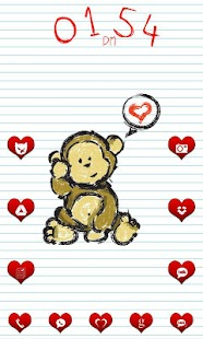 Love Monkey Go Launcher Theme