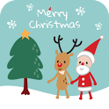 Santa and Rudolph Christmas icon