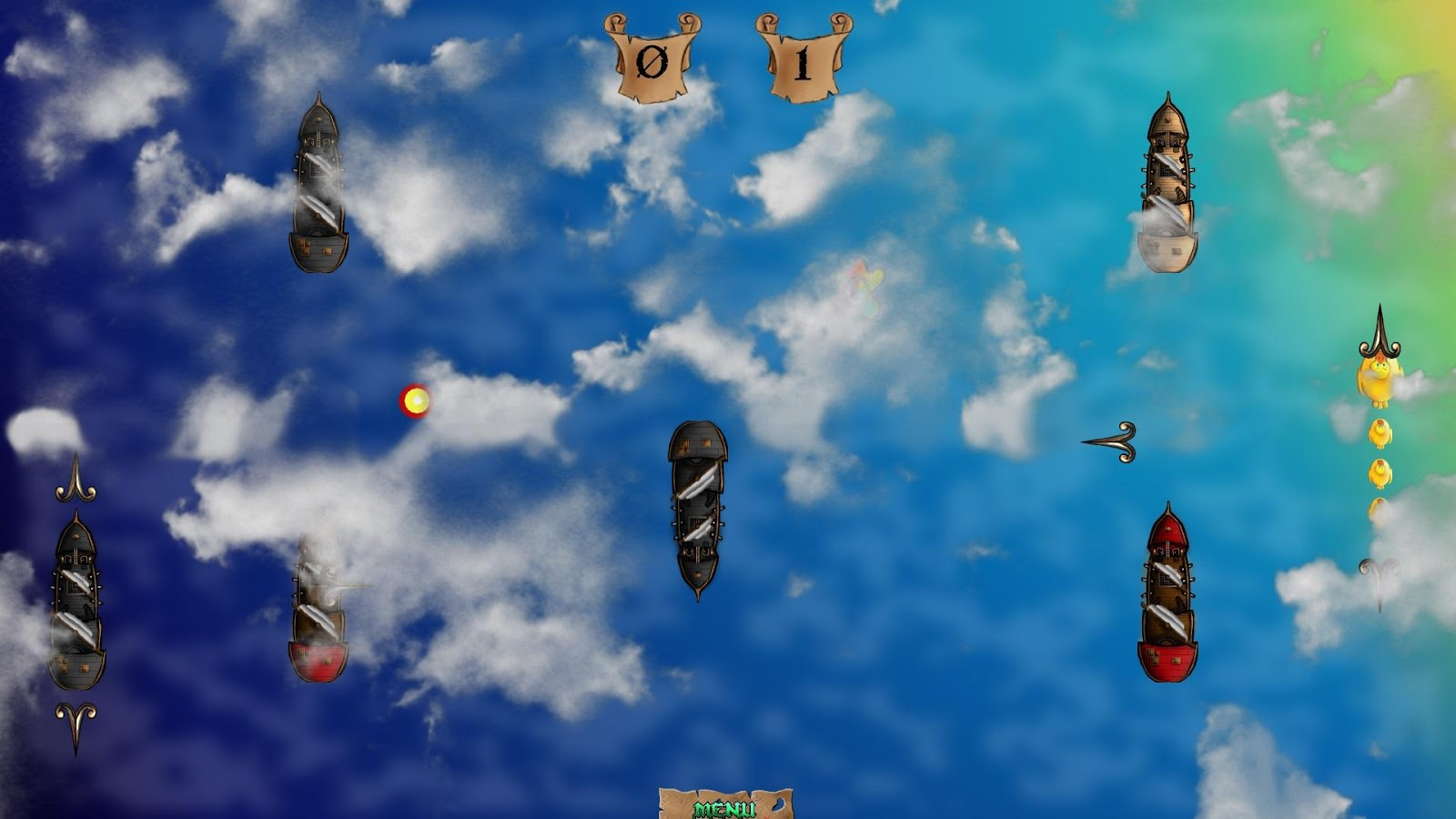 Super Pirate Paddle Battle- screenshot