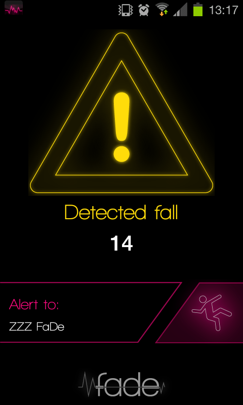 Fade: fall detector- screenshot