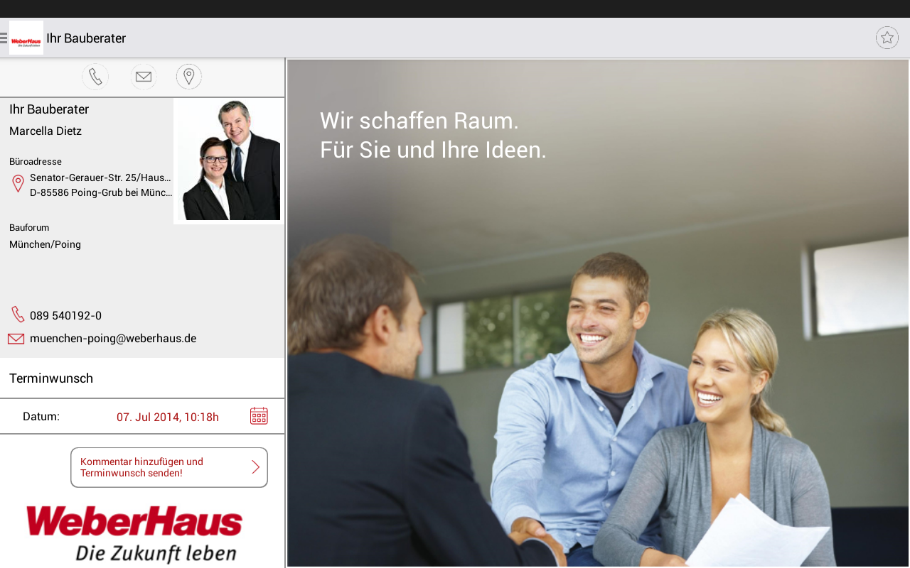 WeberHaus- screenshot