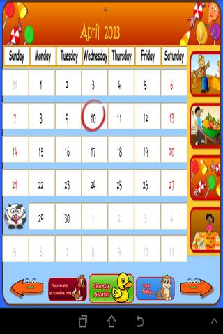 Kids Calendar Trainer (PRO)- screenshot