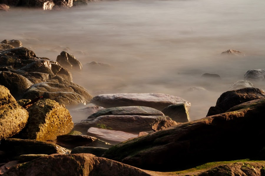 misty times by Wendy Peters - Novices Only Landscapes ( water, waterscape, long exposure, coastal, rocks, mist )