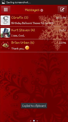 Red Holiday Theme Go SMS