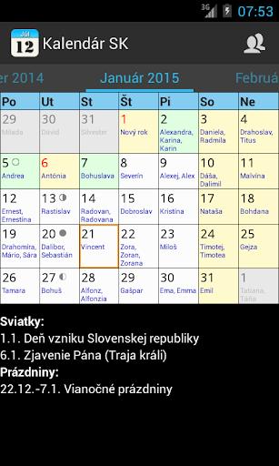 Kalendár SK