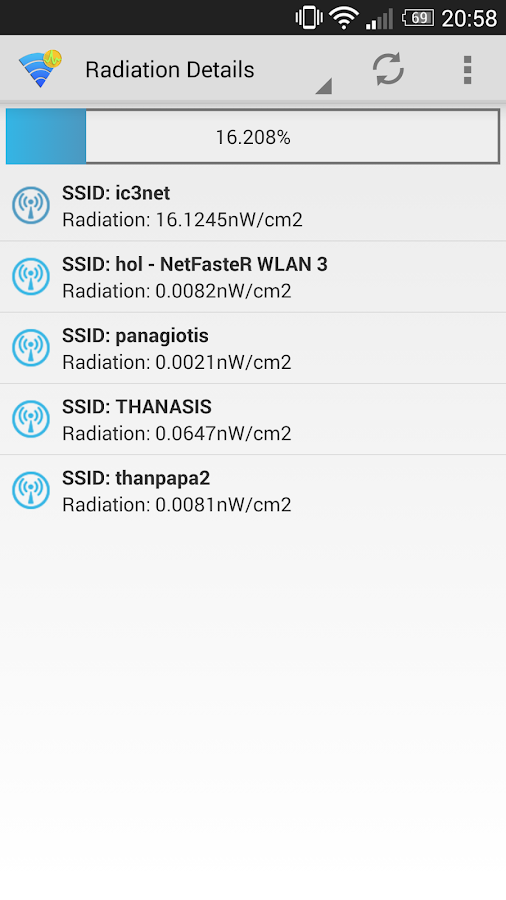 WiFi Radiation Meter (Beta) - screenshot