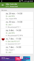 Screenshot of Voetbal kalender