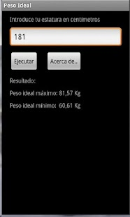 Peso Ideal Máximo y Mínimo - screenshot thumbnail