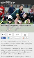 Screenshot of The Rugby Championship