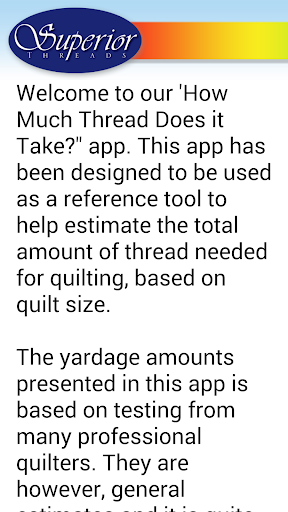 How Much Thread Does it Take