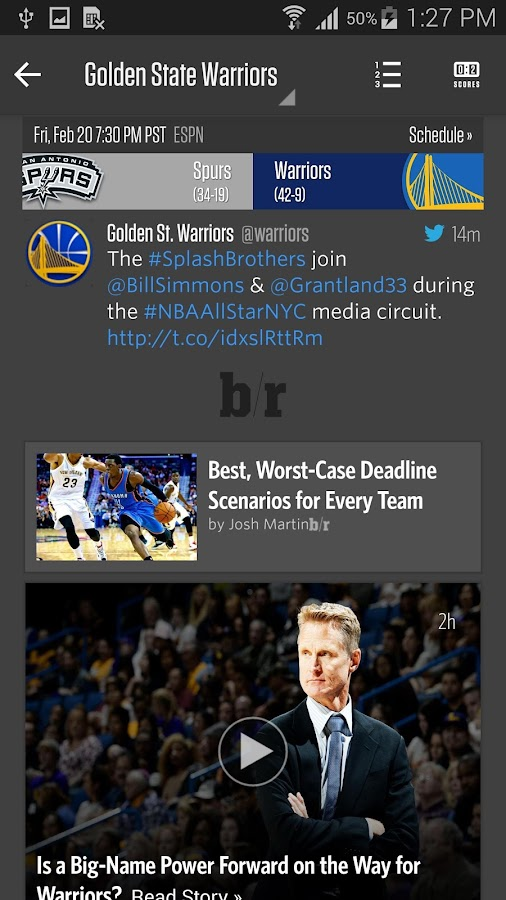 Team Stream by Bleacher Report - screenshot