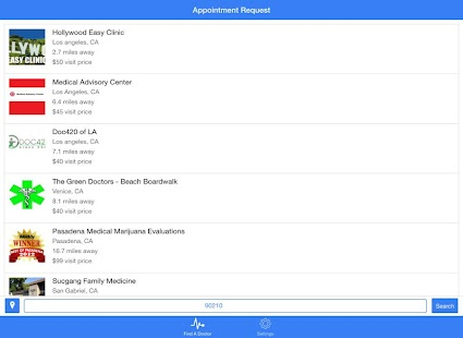 Marijuana Doctors screenshot for Android