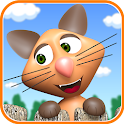Cat and mice icon