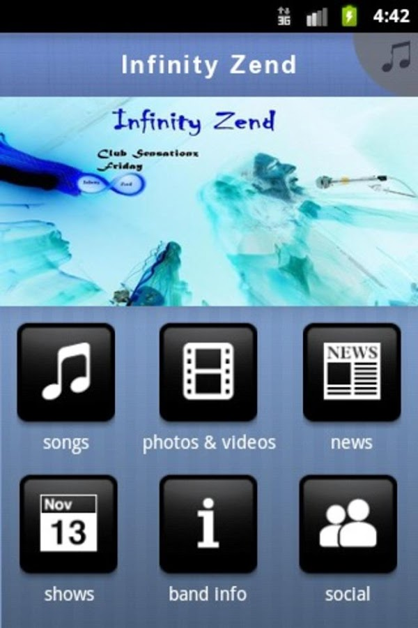 Infinity Zend - screenshot