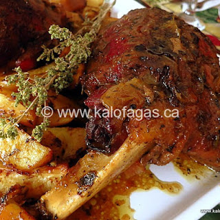 Slow-Roasted Leg of Lamb