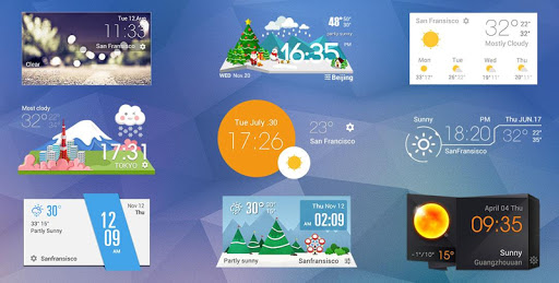 Live weather & Clock Widget Apk apps 4